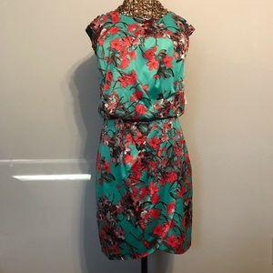 Teal Oriental Sleeveless Dress